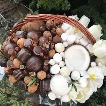 букет из зефира и конфет «рай»